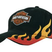 Heavy brushed cap with side flame emb.