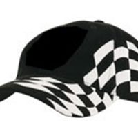 Cap with chequered flag emb.
