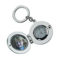 Picture Locket With Clock Keyring