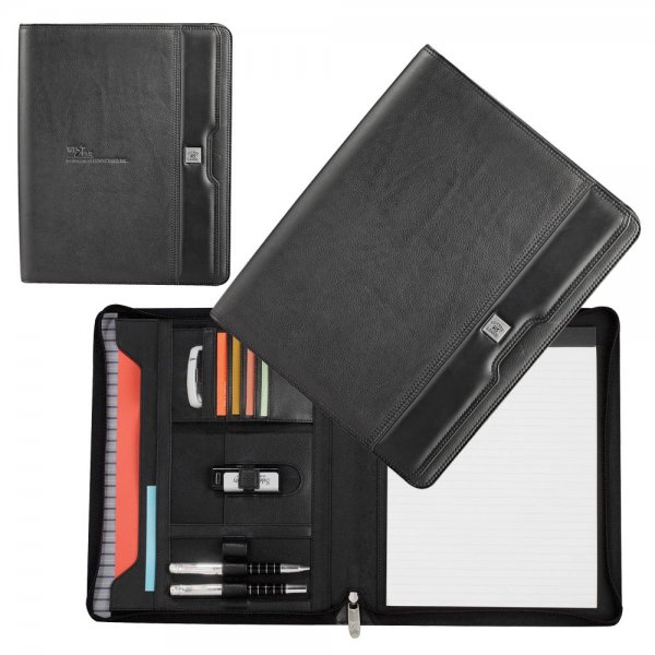 utter & Buck® A4 Zippered Compendium - Black