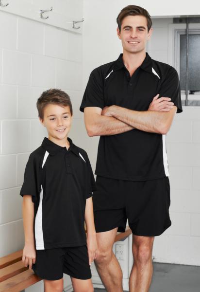 Mens and Kids Splice Polo Shirt