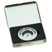 Metal Compass In Tin Case