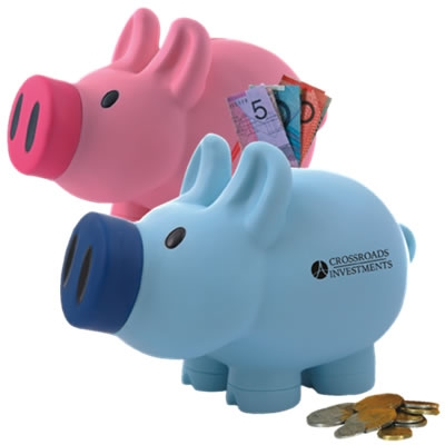 Priscilla Pink / Patrick Blue Pig Coin Savings Bank