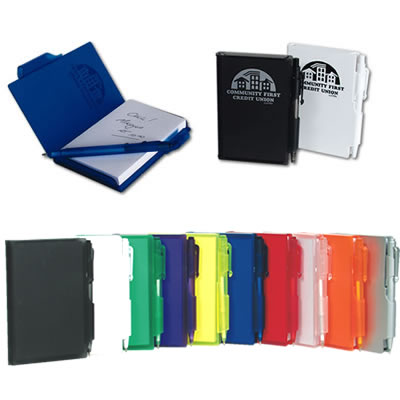 Plastic Pocket Notebook With Pen