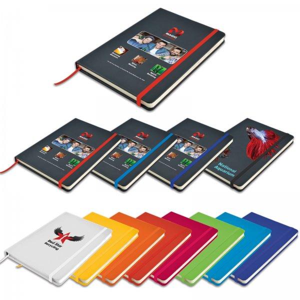Venture A5 Black PU Notebook