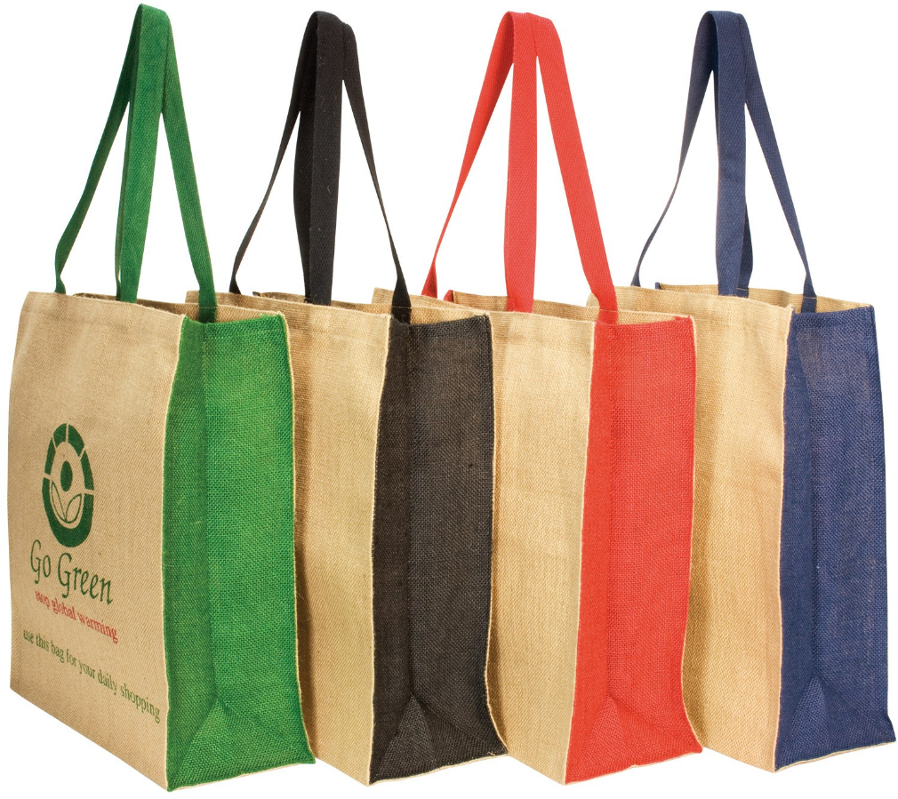 Jute panelled carry-