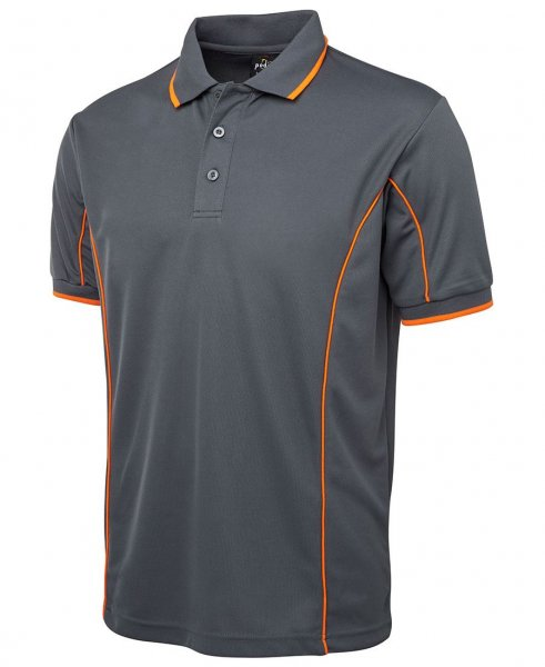 Mens Poly Piping Polo