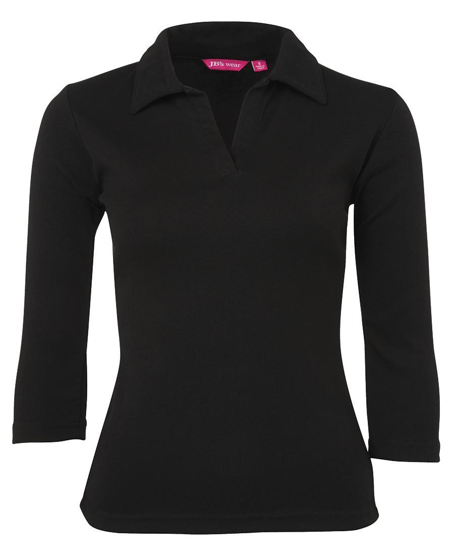Ladies 3/4 Polo Shir