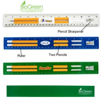 BioGreen Pencil & Ruler Set
