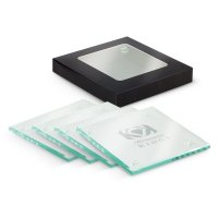 Glass Coaster Set of